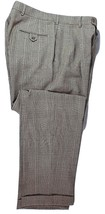 Tommy Hilfiger Pure Wool  Plaid  Pants Size 333x32 Brown - $14.95