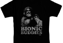 The Six Million Dollar Man Bionic Buddies Retro 70's graphic t-shirt NBC765 image 2