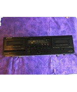 Vintage Pioneer Stereo Double Cassette Tape Deck CT-W301 Full Logic control - $134.95