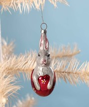 Bethany Lowe Easter Bunny Rabbit in Egg German Glass Ornament Decoration - $18.95