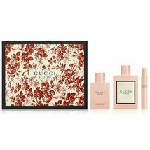 Gucci Bloom 3.3 Oz EDP Spray + Perfumed Body Lotion 3.3 Oz + Roller-ball 0.25 Oz image 1