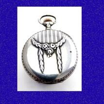 WW1 Mint Silver  Repousse 15J  Longines Tunis Pocket Watch 1918 - $633.40
