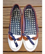 Sperry 9 Top Sider Women's Off White Patent Leather w Brown Accent Boat ... - $24.22