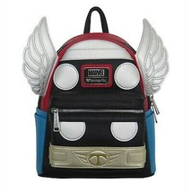 Thor Applique Detailed Cosplay Loungefly Mini Backpack Black - $76.98