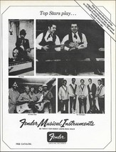 Fender Guitars 1967 advertisement reissued in 1987 Bob Dylan The Beach Boys - $4.00