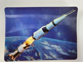 Vintage Saturn V 3-D Collector Series 3-D Postcard NASA Rocket Space  - $12.86