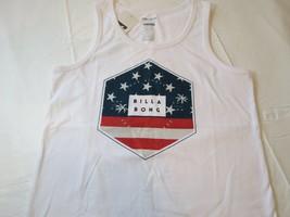 Billabong Boys youth tank top shirt XL Tailored Fit Access BT83PBAC White Flag image 2