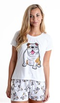 Dog English bulldog pajama set with shorts for women - $30.00
