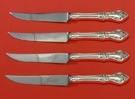 "Afterglow By Oneida Sterling Silver Steak Knife Set HHWS 4pc 8 1/2"" Custom - $289.00"