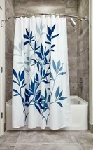 Interdesign Leaves Fabric Shower, Modern Mildew-Resistant Bath Curtain F... - $19.81
