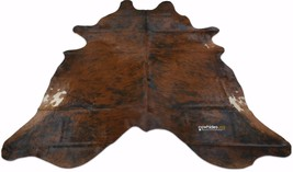 Dark Brindle Cowhide Rug Size 6.5 X 6.7 ft Dark Brindle Cow Hide Skin Rug E-504 - $187.11
