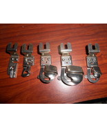 5 Greist Rotary Hemmer Feet Narrow, 3/16, 3/8, 5/8 & 7/8 Nice Near New - $15.00