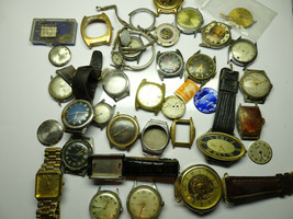 VINTAGE MOSTLY TIMEX WINDUP QUARTZ WRISTWATCH WATCH PARTS FOR REPAIR OR ... - $120.94