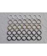 "Urbanest Metal Curtain Drapery Rings with Eyelets, 2"" Inner Diameter (se... - $9.50"