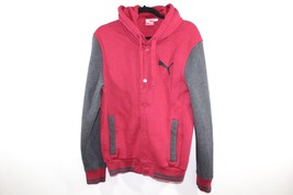PUMA Mens Small Full Button Casual Outdoor Hooded Rickie Fowler Jacket Red - $30.24