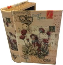 Fairy in Flowers Decorative Book Box Leather Wood Book Box Girls Secret Storage - $25.99