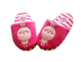 Fuchsia Bunny Girls Slippers Fluzzy Warm Footwear, 3-6 Yrs image 2