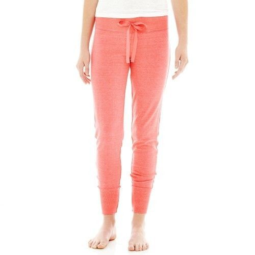 Flirtitude Slim-Fit Sleep Pants Paradise Pink Size S, L New Msrp $30.00 - $11.99