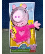 """Peppa Pig SLEEP N' OINK PEPPA PIG 12""""H Plush New - $19.50"""