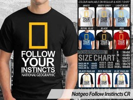 NEW T shirt National Geographic Follow Your Instincts Many Color & Desig... - $10.99+