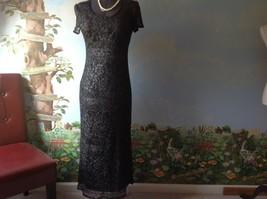 Jessica Howard Black and Silver Woman Short Sleeveless Dress Size 8 - $36.62