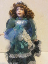 "2000 AEL PORCELAIN DOLL 14"" ENCHANTED GIRL IN GREEN DRESS BY PATRICIA ROSE - $9.99"
