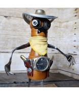 Found Object Western Folk Art Cowboy Gunfighter Sculpture - signed Soulj... - $154.79