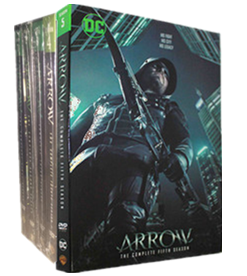 Arrow The Complete Seasons 1-5 1,2,3,4,5 DVD Box Set 25 Disc Free Shipping New