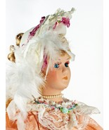 """Doll Porcelain Orange Elegant Dress Hand Painted 23"""" Inches Tall - $58.99"""