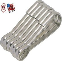Metal Flag Pole Snap Clips Loop Stainless Steel Hook Flagpole Attachment... - $11.76