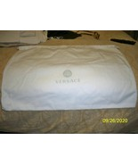 "Versace White Drawstring Storage Shoes Boot Purse Dust Bag (17.75"" x 13.5"") - $29.69"