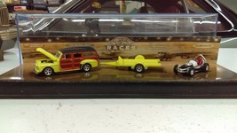 1:64 Hot Wheels A Night At The Races 48' Woody With Trailer & Sprint Car... - $20.46