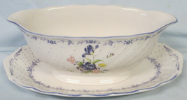 Nikko Blue Peony Gravy Boat with Under Plate - $35.53