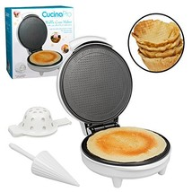 Waffle Cone and Bowl Maker- Includes Shaper Roller and Bowl Press- Homem... - €40,06 EUR