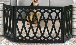 "Adjustable Extra Wide Pet Gate – 48"" Freestanding Dog Gate - Pet Fence D... - $28.93"