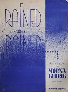 Primary image for It Rained and Rained Sheet Music