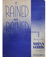 It Rained and Rained Sheet Music - $1.75