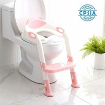 711TEK Potty Training Seat Toddler Toilet Seat with Step Stool LadderPot... - $41.51