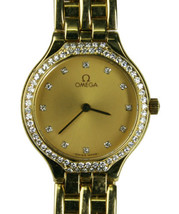 "18k Yellow Gold Omega Womens Wristwatch Fits 7"" Wrist - $5,995.00"