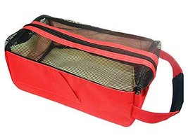 Square Bath Accessories Tote Sport Swimming Mesh Shower Bag-Red - $18.64