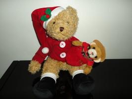 Russ Berrie Santa Bear W Rcmp In Sack 13 Inch Rare Canada Edition 77573B - $88.88