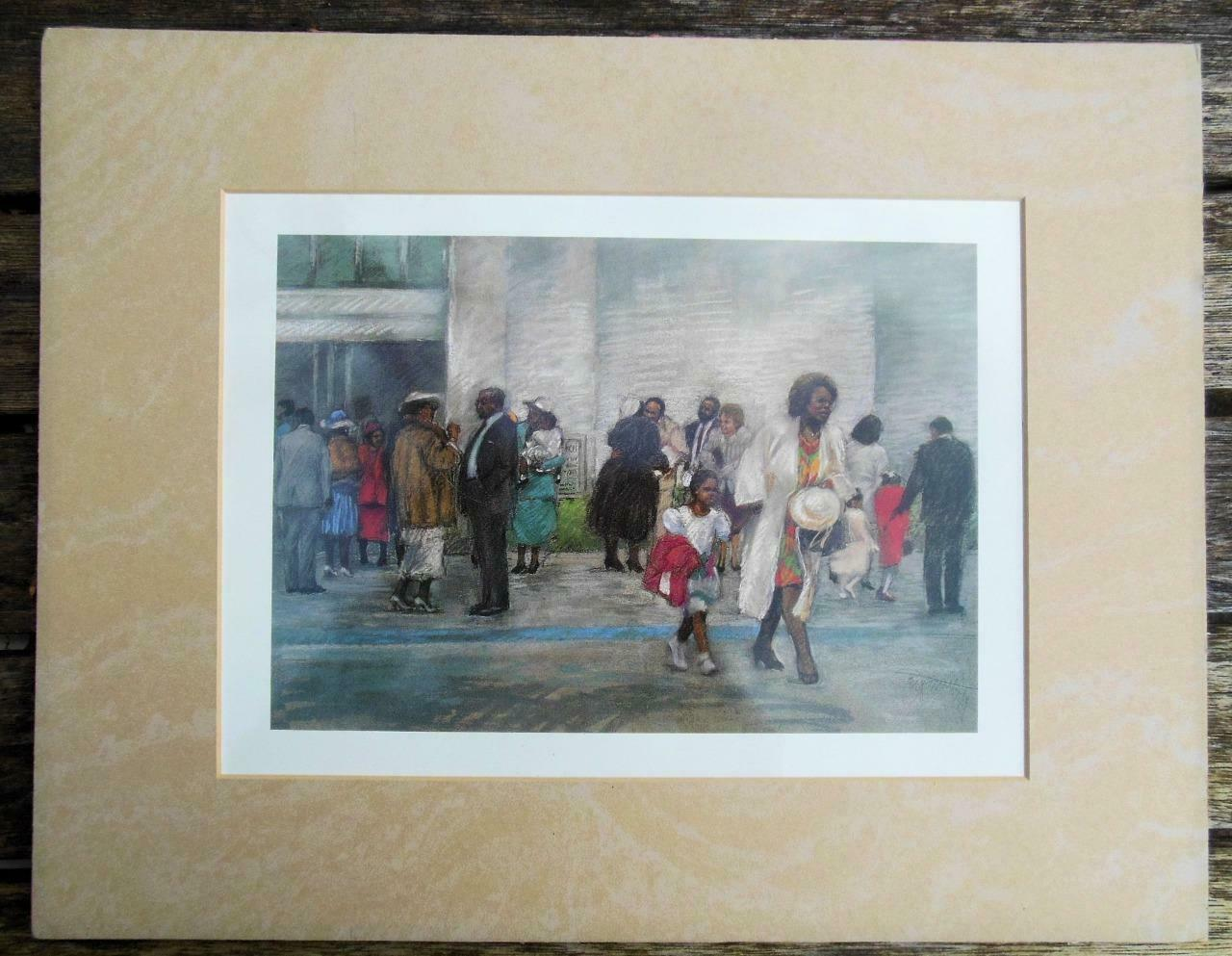 "Matted Print ""After Service"" Brenda Joysmith 14 x 11"""