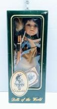 "Geppeddo Dolls of the World Native American Indian Girl W Bow 12"" Nascha... - $31.67"