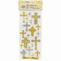 "Silver & Gold Cross Religious Cellophane Bags, 20ct (11"" x 5""|Multicolor) - €6,71 EUR"