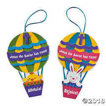 """Christ is Risen"" Hot Air Balloon Ornament Craft Kit (Makes 12) - $12.37"