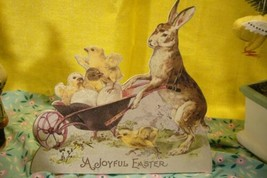 Bethany Lowe Bunny with Wheel Barrow Dummy Board image 1