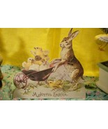 Bethany Lowe Bunny with Wheel Barrow Dummy Board - $7.10
