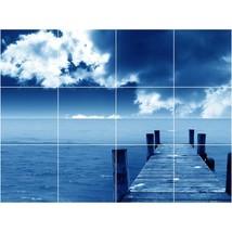Beach Photo Tile Murals BZ30024. Kitchen Backsplash Bathroom Shower Wall Murals - $120.00+