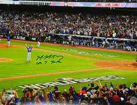 MIKE MONTGOMERY Signed Cubs 2016 World Series Gm 7 16x20 Photo w/Gm 7 Sa... - $98.01