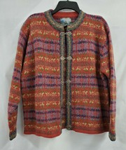 Squaw Valley Long Sleeve 100% Wool Cardigan Sweater Size M EUC 0719 - $36.65